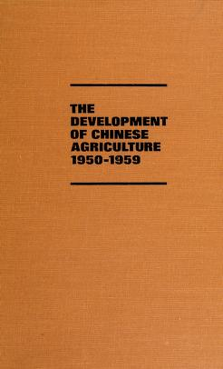 Cover of: DEVEL OF CHINESE AGRICULT (Illinois studies in the social sciences)   Peter Schran