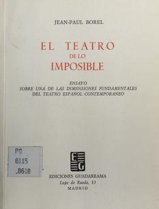 Cover of: El teatro de lo imposible | Jean Paul Borel