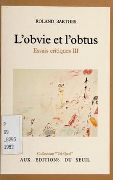 Cover of: L' obvie et l'obtus   Roland Barthes