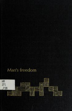 Cover of: Man's freedom | Andreas George Papandreou