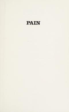 Cover of: Pain | International Symposium on Pain University of Paris 1967.