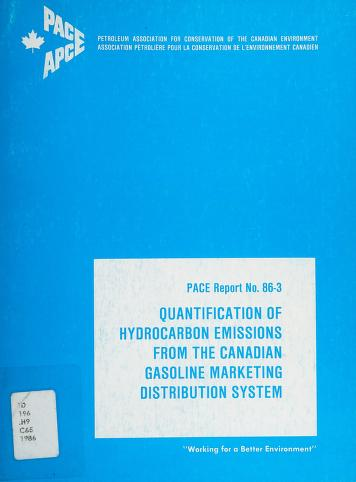 Cover of: Quantification of hydrocarbon emissions from the Canadian gasoline marketing distribution system | Concord Scientific Corporation
