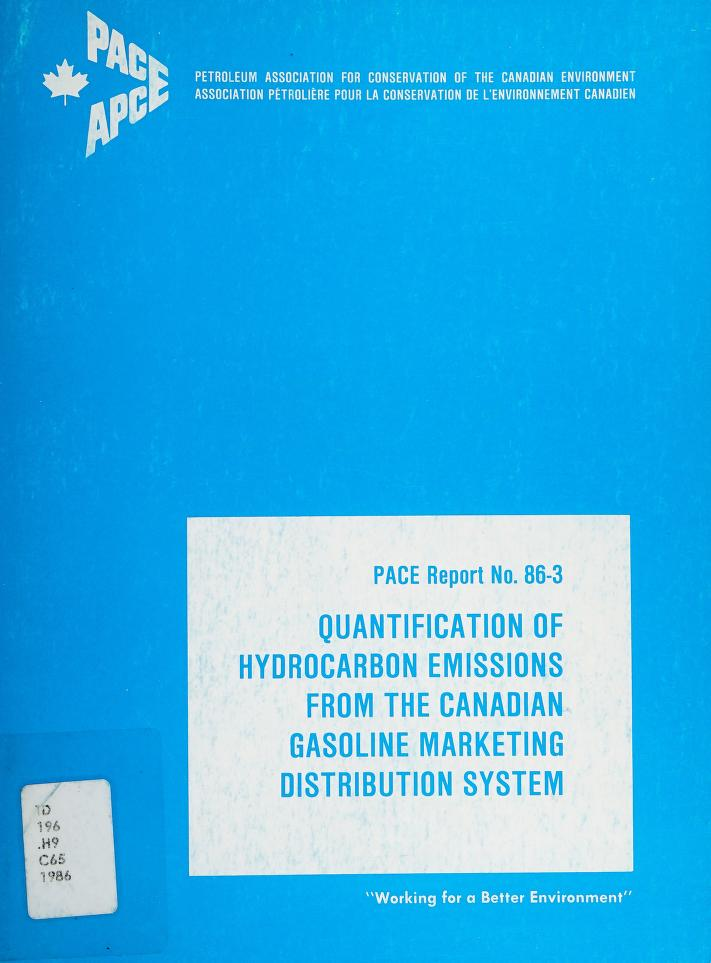 Quantification of hydrocarbon emissions from the Canadian gasoline marketing distribution system by Concord Scientific Corporation