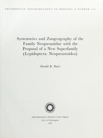 Cover of: Systematics and zoogeography of the family Neopseustidae with the proposal of a new superfamily (Lepidoptera, Neopseustoidea) | Davis, Donald R.