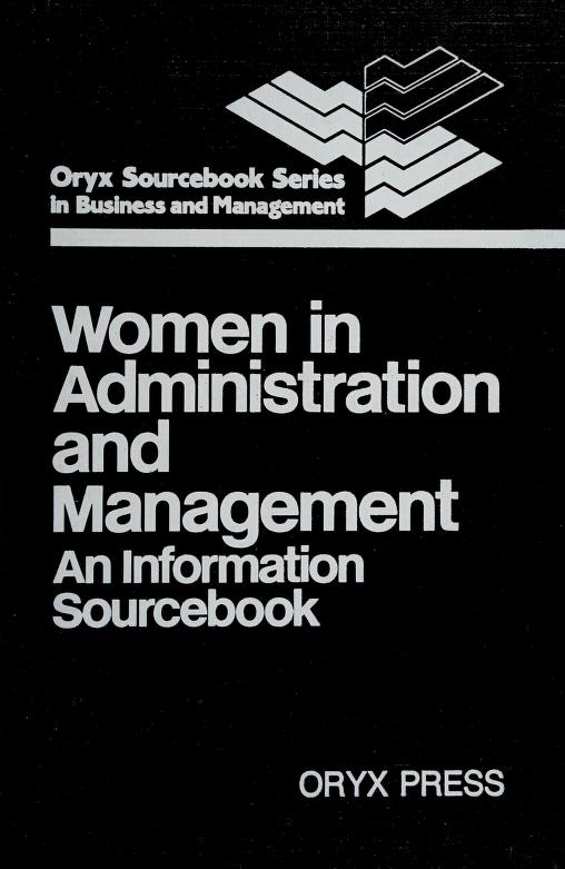 Women in administration and management by Judith A. Leavitt